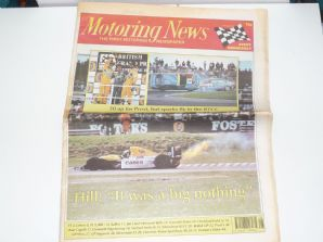 MOTORING NEWS 1993 July 14 British GP, BTCC, F3, CART, NASCAR, Jim Clark Rally